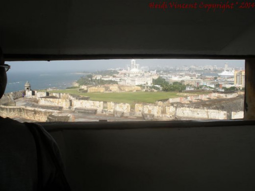 Another view of Old San Juan from inside.