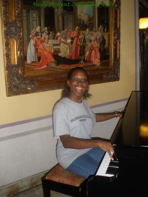 I played the Carmelite Sisters' piano :)