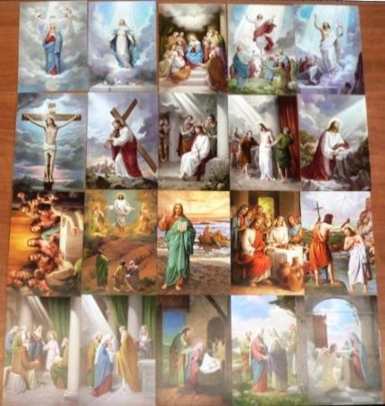 Life of Jesus in picture - Baptism - Presentation in the Temple - Jesus' Ministry on Earth - Last Supper - Crucifixion - Resurrection - Ascension