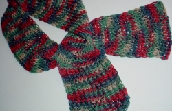 Knifty Knitter Multicolored Figure Eight Stitch Scarf