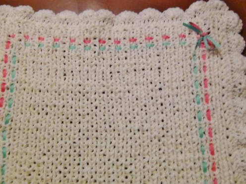 Loom Knit Baby Blanket
