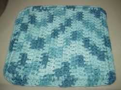 Double layer wash cloth