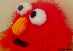 Elmo Earflap Hat - Loom Knit