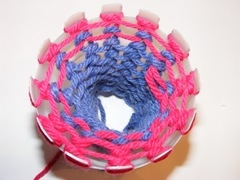 Knitting Loom From a Plastic Bottle
