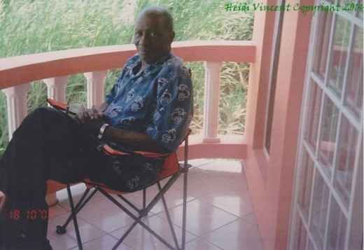 Dad sitting in the verandah of my home on October 18, 2009; a little over 1 year before he died.