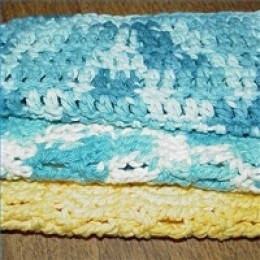 Double crochet washcloths for beginners