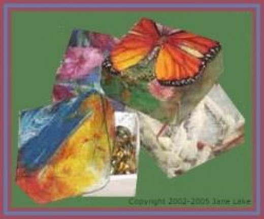 Recycled Craft for Boxes from Greeting Card Paper