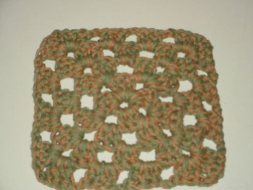 Granny square dish cloth