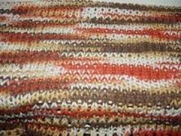 This is not a scarf, but rather a panel of knit done in the no wrap stitch.