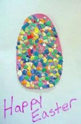 Egg Shell Mosaic Reuse Craft