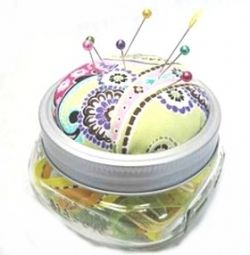 Sewing Pin Cushion and Storage from Used Canning Jars