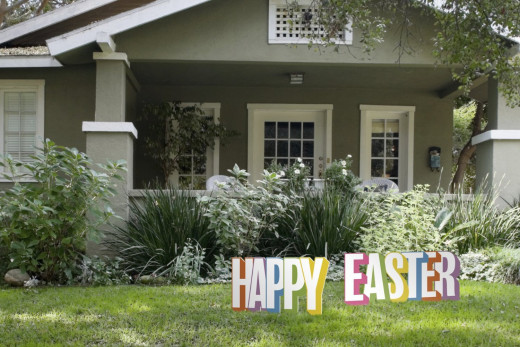 Front Porch Easter Decoration