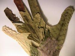 Leaf Mosaic of Hand Outline