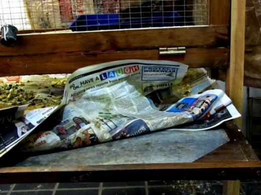 fold the newspaper with the waste and easy remove