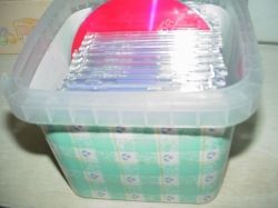 Reuse Plastic to Organize Household Items