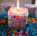 How to Make a Jelly Bean Candle