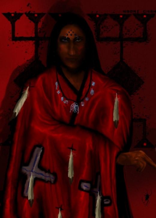 Iktomi Portrait. Naomi Chan. Digital. 2004.