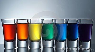 Create with a rainbow.