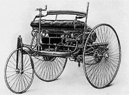 3 Wheeler Benz from 1885      source: Wikipedia
