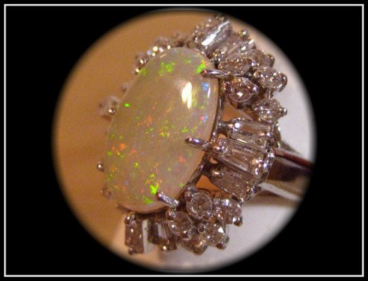 Platinum Opal Diamond Ring from our store