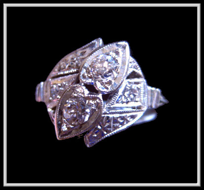 Antique double heart Diamond ring from our store