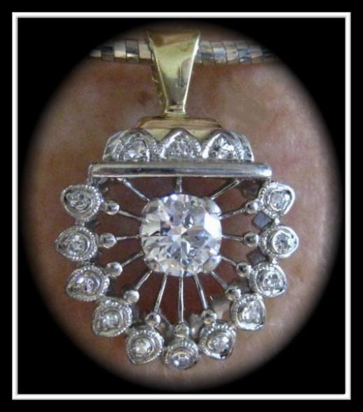 Custom Diamond pendant designed in our store