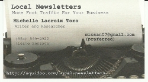 Local newsletters - business card