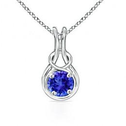 Tanzanite Infinity Necklace