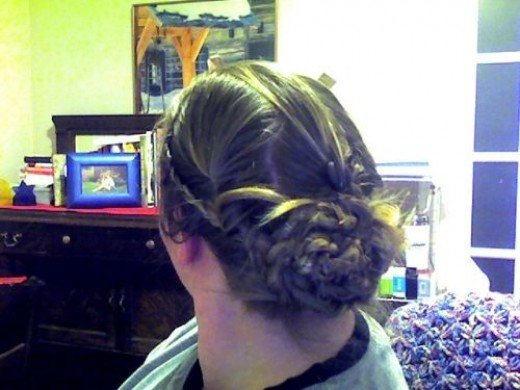 Day 30: Boho Braids. This is made with two side braids starting at the crown and only taking hair in from the hairline. Followed by six braids in the back (3 on top and 3 underneath). The three braids in the back are loosely knotted and weaved togeth