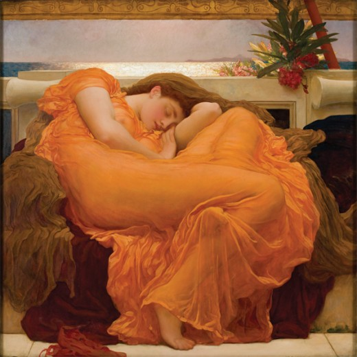 Full image of Flaming June courtesy of Wikipedia.