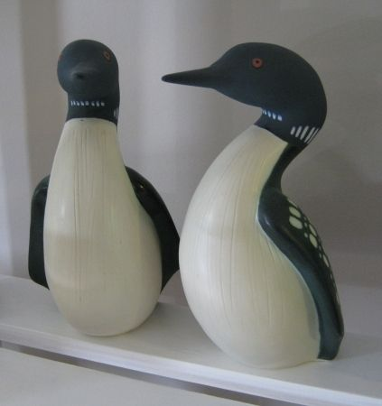 I purchased these hand made loons from a now extinct pottery place in my home town. I bought them a month before my wedding. Loons mate for life.