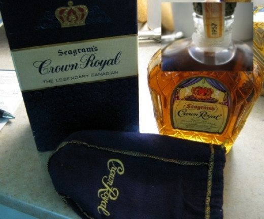 This 1957 bottle of Crown Royal was given to us by my FIL. It is probably not worth much but it was important to him that we have it and keep it.