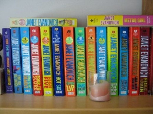 My Janet Evanovich book collection is always good for a laugh and is an easy read.