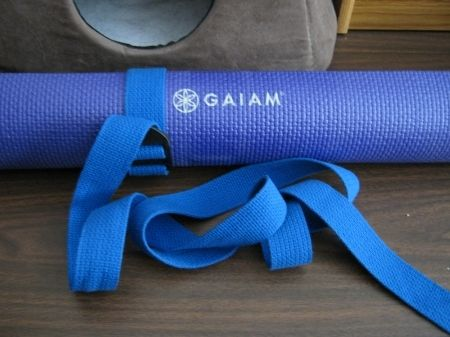 It's hard to find a good yoga mat and strap. In a pinch it can be slept on.