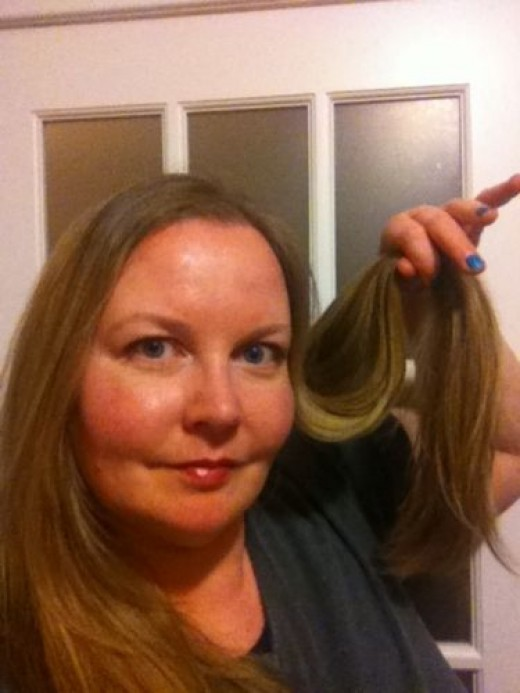 One of the last shots of my long hair. I measured the length from the hair at the side and it measured 17 inches.