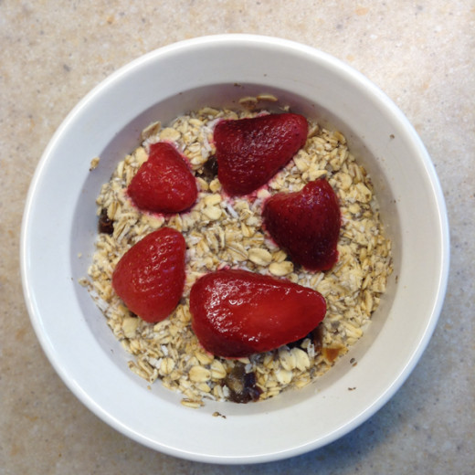 Strawberry Coconut Overnight Oatmeal Recipe