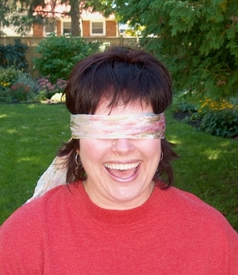 Blindfold a close friend!