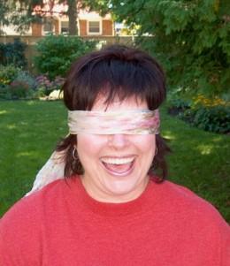 Blindfold a close friend!