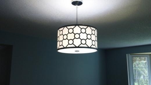 Light fixture in living room