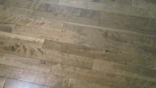 New hardwood floors.