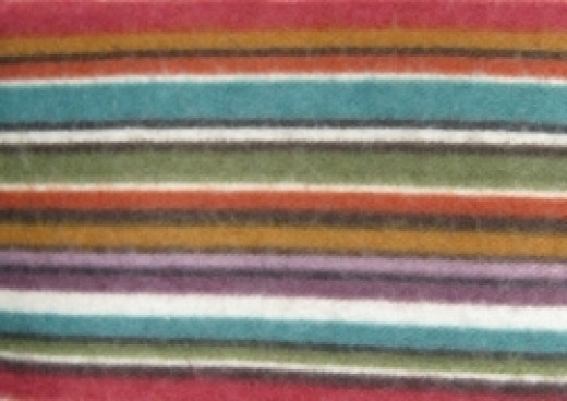 striped flannel material