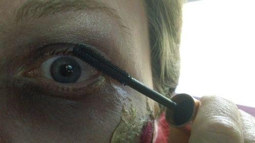 zombie wearing mascara