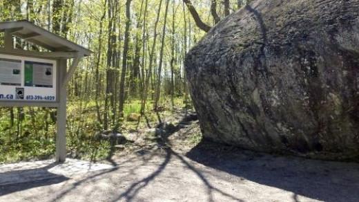 Taking a walk around the boulder beginning on the left.