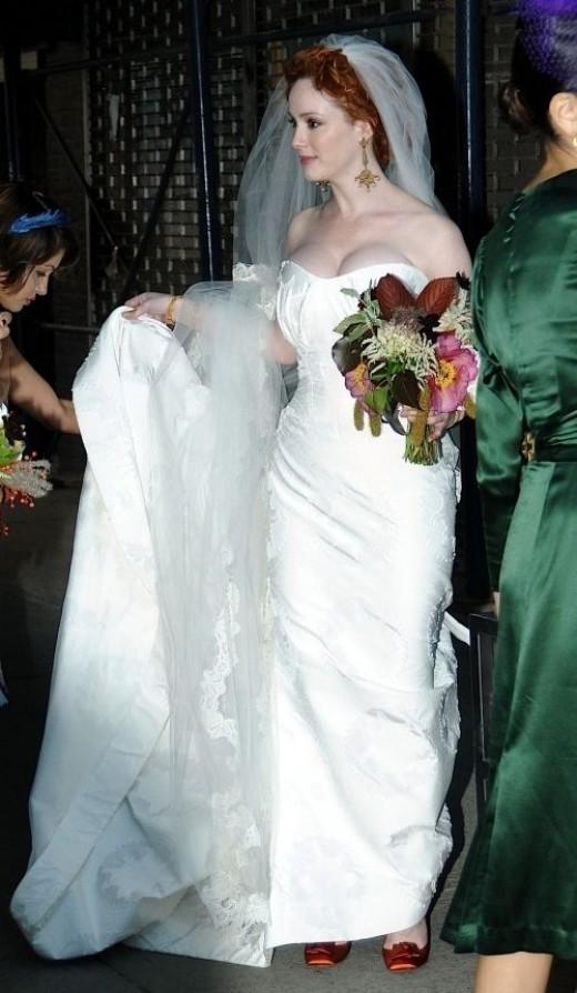 Christina Hendricks Wedding Dress