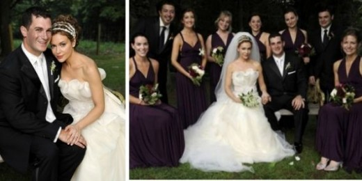 Alyssa Milano Wedding Gown