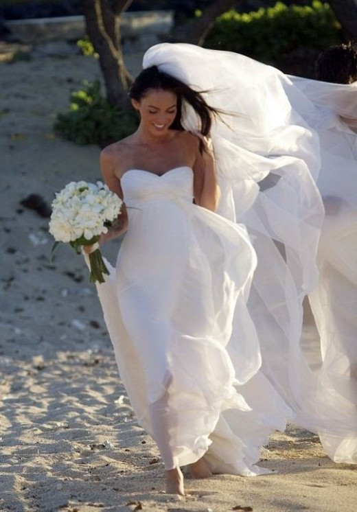 Megan Fox Wedding Dress