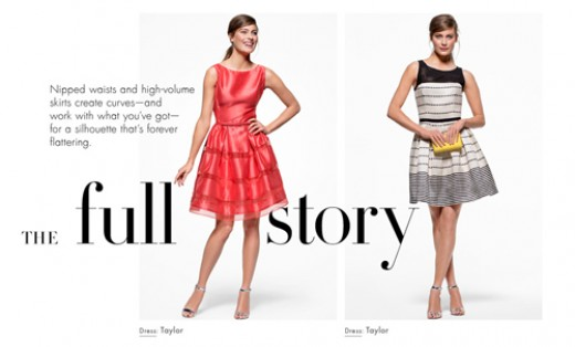 Fit and Flare dresses from Taylor, Sam and Lavi, Cynthia Rowley and many more hot designers