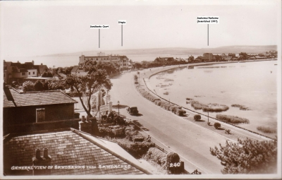Sandbanks In The 1950's From The Sandacres Hotel