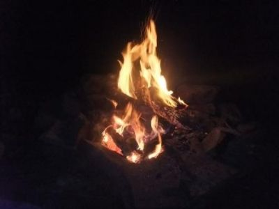 My Campfire Without A Firepit :(