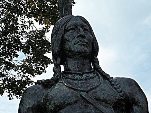 "Massasoit, Great Sachem of the Wampanoags and protector and preserver of the Pilgrims. These words are placed under his statue overlooking the water front as "" A Grateful Tribute""  1921"